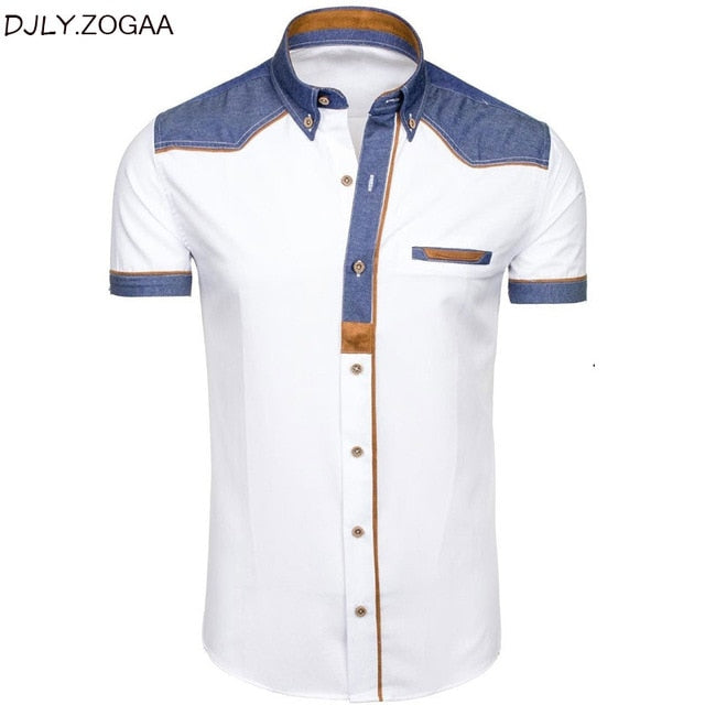 Formal Casual Slim Cotton Short Sleeve Shirts