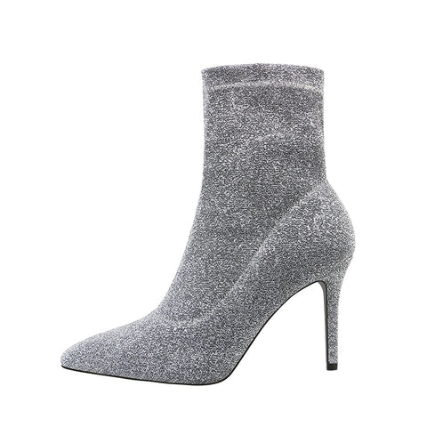 Sexy Ankle Sequin Boots