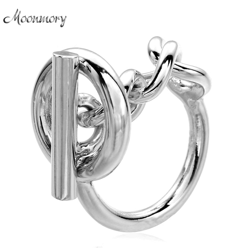 Sterling Silver Rope Chain With Hoop Lock Ring
