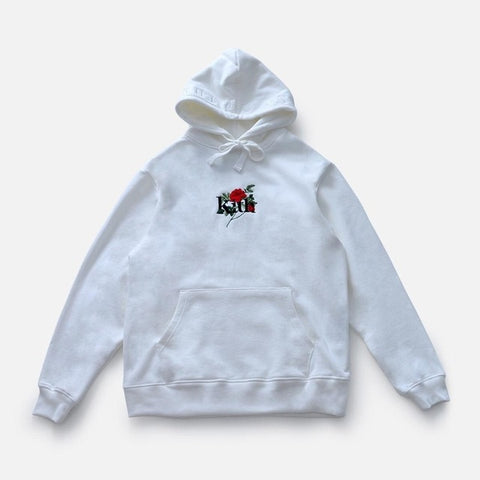Embroidered Roses Casual Hoodies