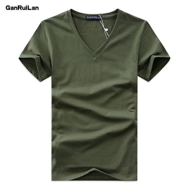 Simple Creative Design Line Solid Color cotton T Shirts