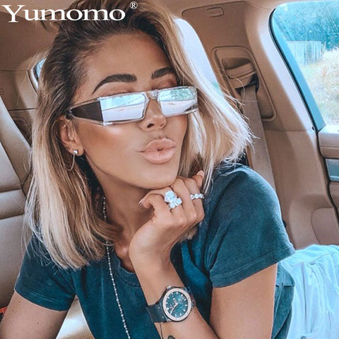 Luxury Vintage Designer Square Frame Sunglasses