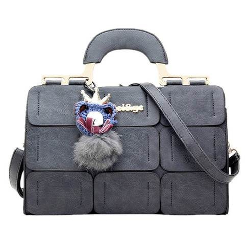 Leather Luxury Top Handle Handbag