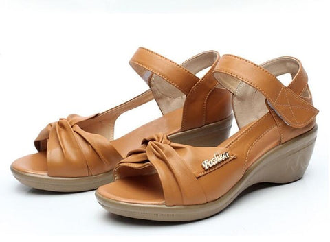 Leather Soft Open Toe Sandals