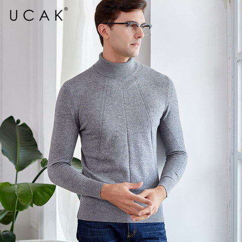 Turtleneck Thick Warm Pull Homme Cashmere Pullover Sweaters