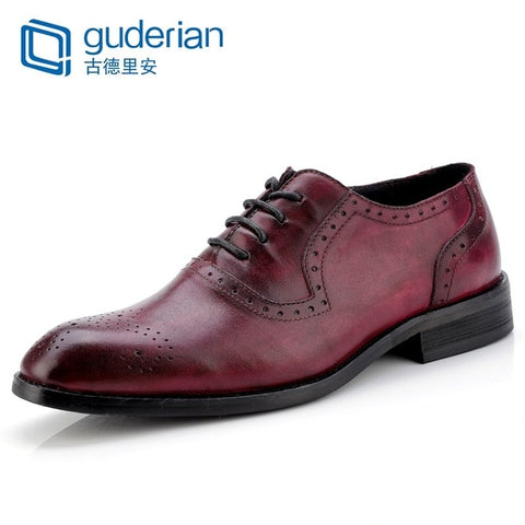 Genuine Leather Brogues Oxford Shoes