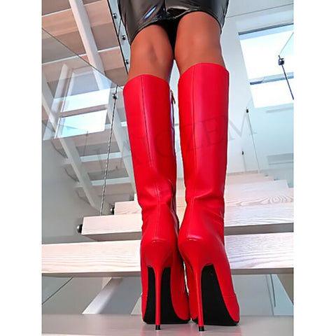 Stiletto Knee High Side Zip Tall Boots
