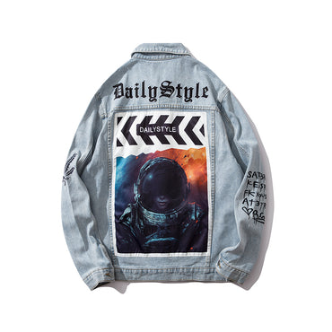 Original Space Character Denim Jackets