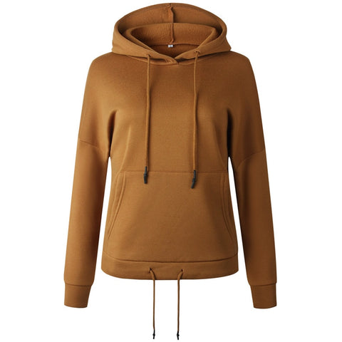 Solid Big Pocket Casual Hoodies