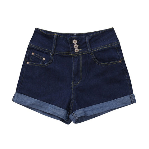 Casual Plus Size Ripped Hole Short Denim