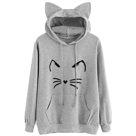 Long Sleeve Cat Ear Hoodies