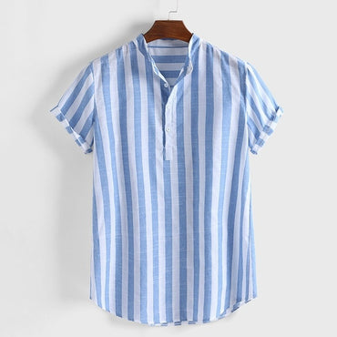 Sexy Slim Fit Striped Casual Short Sleeve Shirts