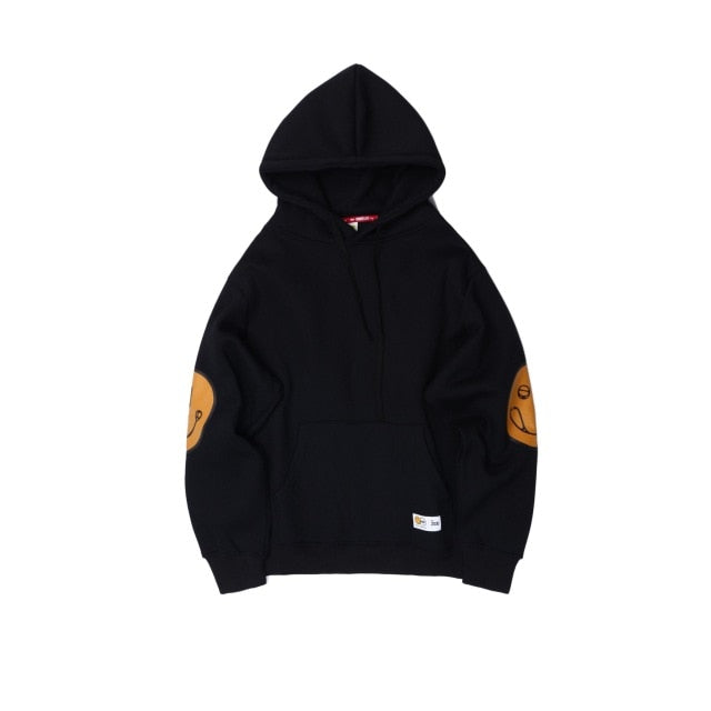 Cotton Smile Icon Print Hoodies