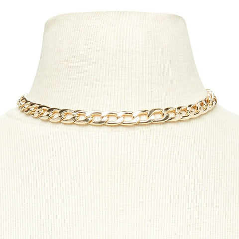 Exaggerated European and American Style Neck Chain Necklace
