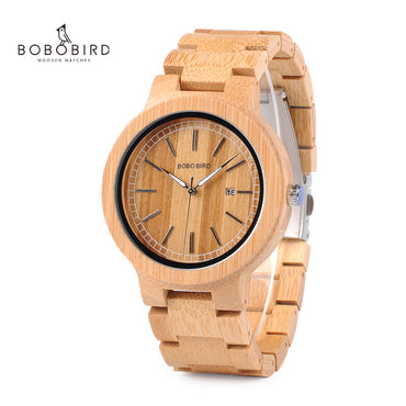 Bamboo Stainless Steel Wood Watches