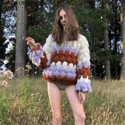 Thick Knitted Boho Bohemian Sweaters