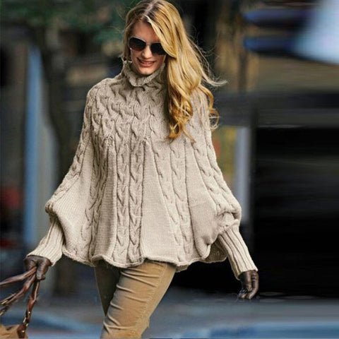 thick Solid Long Sleeve casual warm basic turtleneck Sweater