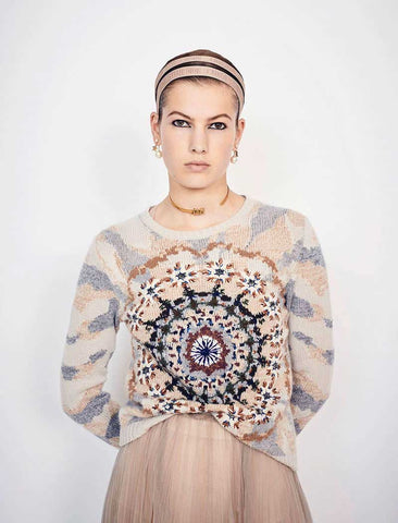 Vintage Embroidery Warm Knitted Jumpers Long Sleeve Boho Bohemian Sweaters