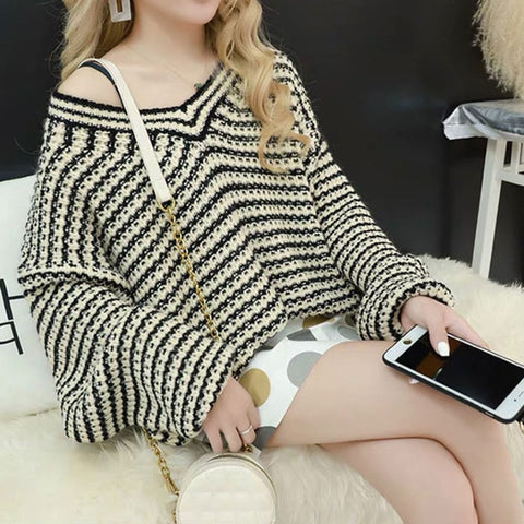 casual knitted v neck Boho Bohemian Sweaters