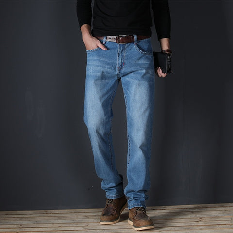 High Quality Stretch Cotton Straight Jeans