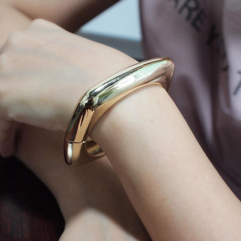 Alloy Metal Charm Geometry Statement Cuff Bangles Bracelets