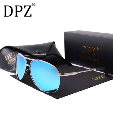 Polarized Metal Pattern aviation Classic Retro Sunglasses