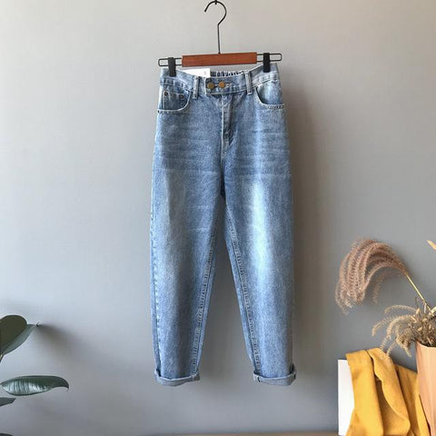 Office Thin High Radish Loose Jeans