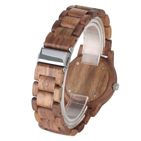 Analog Luminous Hands Handmade Wood Watches