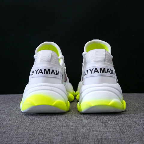 Breathable Mesh Green Platform Shoes
