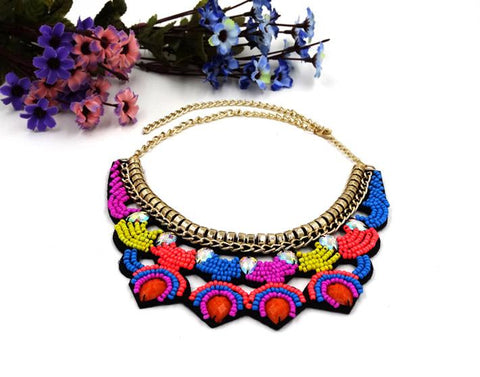 Collar Beaded Resin Ethnic Style Necklace 3Boho Bohemian Accessories