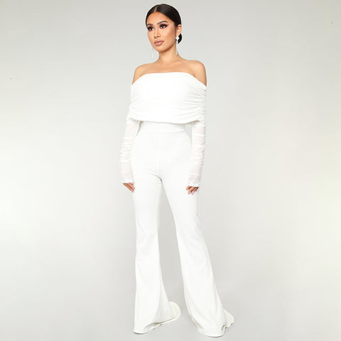 Sexy Long Off Shoulder Jumpsuits