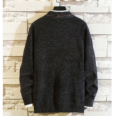Casual Solid Knitted Sweater