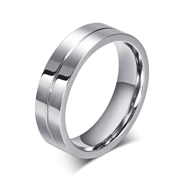 Stainless Steel Lovers Personalized Anniversary Rings