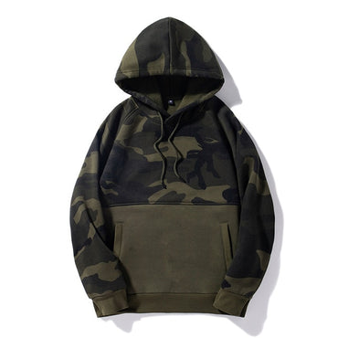 Army Military Fleece Pullover Hoodie