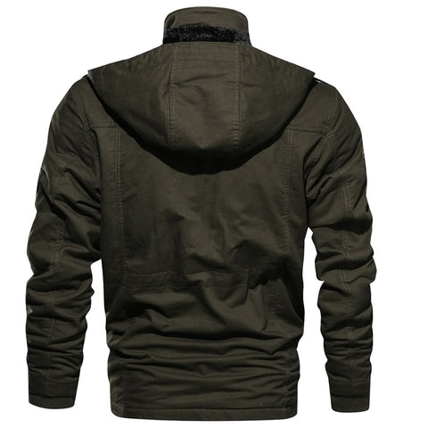 Long Sleeve Stand Collar Cotton Jackets