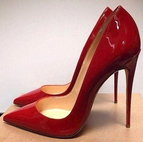 Red Patent Leather Stiletto Heels