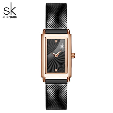 Geneva Designer Luxury Rectangle Gold Wrist Watch