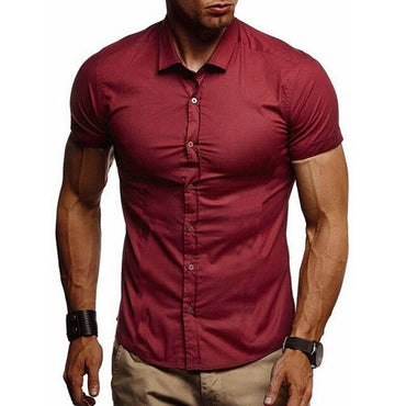 Slim Fit Casual Comfortable Short Sleeve Shirt