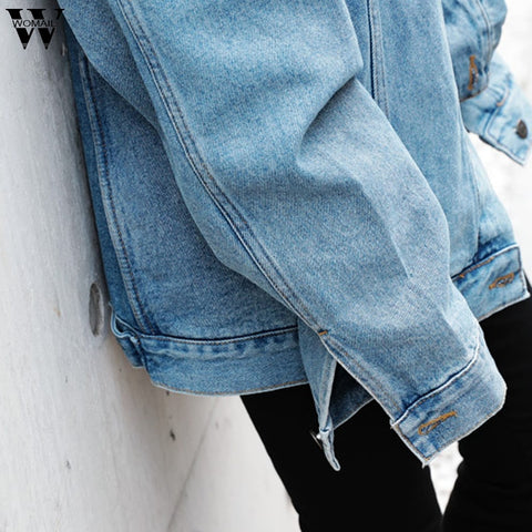 Loose Long Sleeve Retro Cowboy Loose Casual Denim Jackets