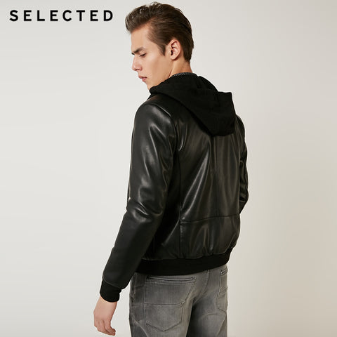 removable hooded business leisure PU jacket