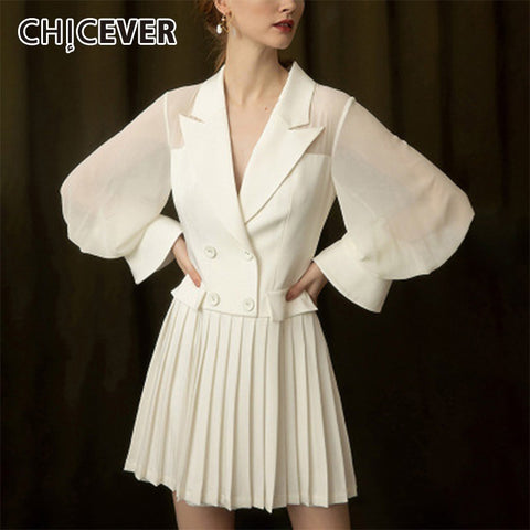 Elegant Chiffon White Dress