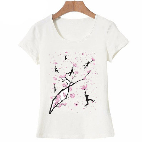 Pink Cherry Blossom Branch T Shirt