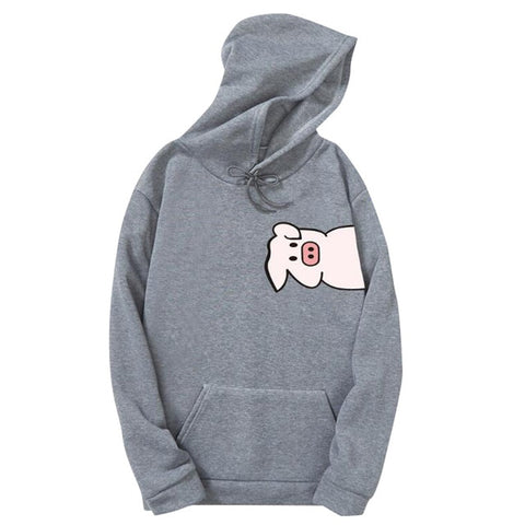 Pig Printed Hoodies