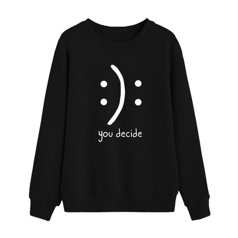 Casual Letter Print Long Sleeve Sweatshirts
