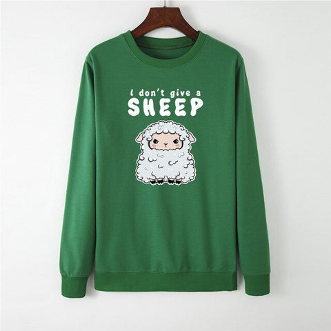 Casual Girls Pullovers Cute Sheep Print Sweatshirt