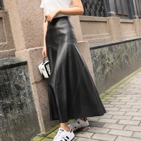 Ankle Length Long Wide Flare Skirt