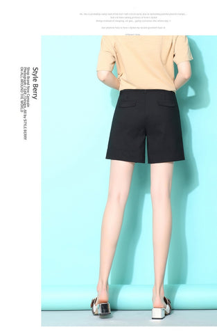 High Waist white Cotton Button Fly shorts