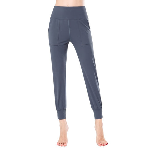 Nylon High Waist Beam Feet Training Harlan Casual Fitness Pants