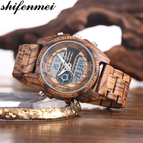 Luxury LED Digital Clock Wood Watches