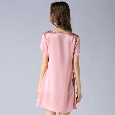 Silk Short Sleeve Mulberry Silk Sleepwear